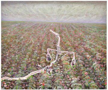 Andriu Deplazes Sprinkler auf Feld 2020