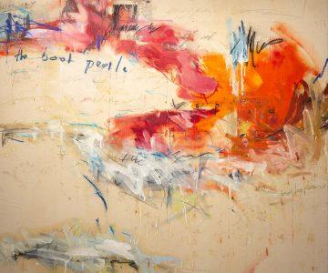 2019, Öl, Acryl, Pastell- und Ölkreide auf Leinwand, 130 x 130 cm