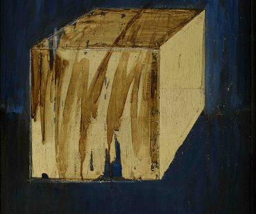 Wu Di, Golden Cube, 2018, 60 x 45 cm